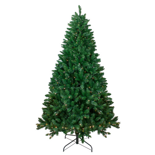 7.5' Pre-Lit Full Twin Lakes Fir Artificial Christmas Tree - Warm White LED Lights - IMAGE 1