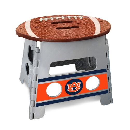"14"" Gray and Brown NCAA Auburn Tigers Folding Step Stool - IMAGE 1"