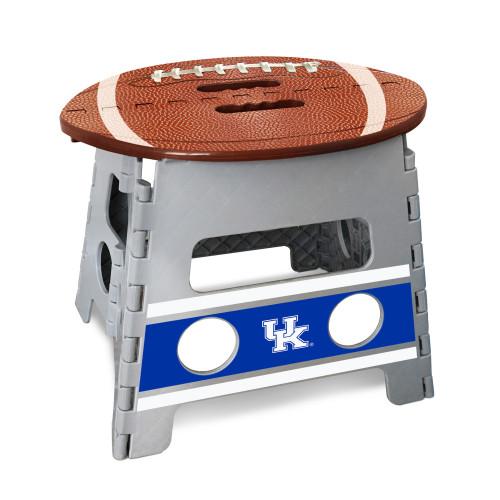 "14"" Gray and Brown NCAA Kentucky Wildcats Folding Step Stool - IMAGE 1"