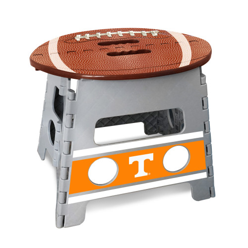 """14"""" Gray and Brown NCAA Tennessee Volunteers Folding Step Stool - IMAGE 1"""