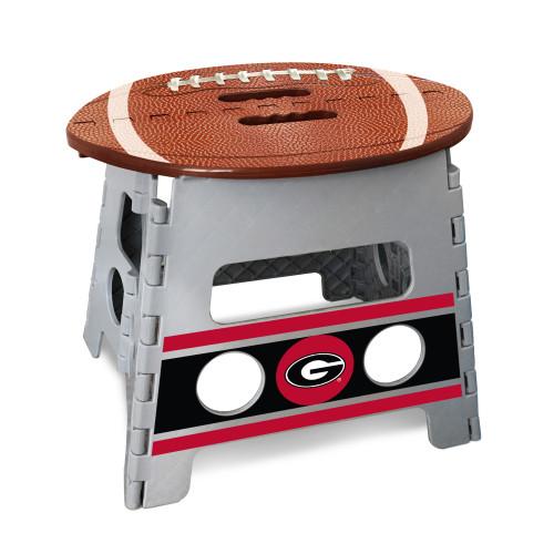 "14"" Gray and Brown NCAA Georgia Bulldogs Folding Step Stool - IMAGE 1"