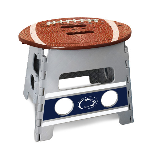 """14"""" Gray and Brown NCAA Penn State Nittany Lions Folding Step Stool - IMAGE 1"""