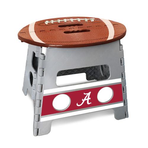 "14"" Gray and Brown NCAA Alabama Crimson Tide Folding Step Stool - IMAGE 1"