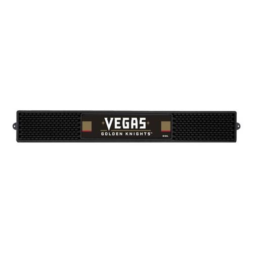"Black and White NHL Vegas Golden Knights Rectangular Drink Mat  24"" x 3.25"" - IMAGE 1"