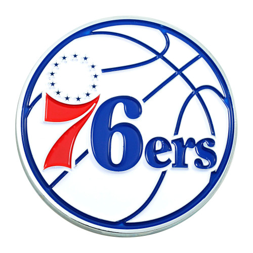 "3"" Blue and Red NBA Philadelphia 76ers 3D Emblem - IMAGE 1"