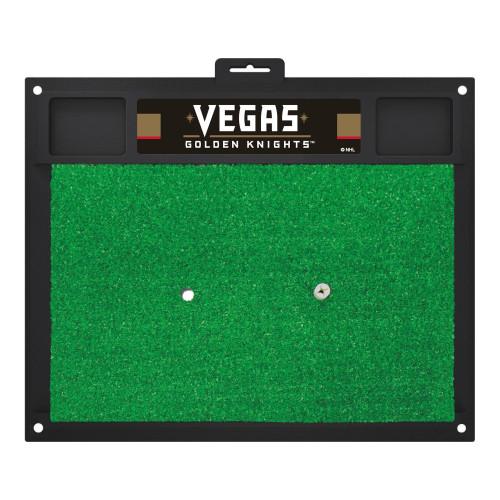 "17"" x 20"" Black NHL Vegas Golden Knights Golf Rectangular Hitting Mat - IMAGE 1"
