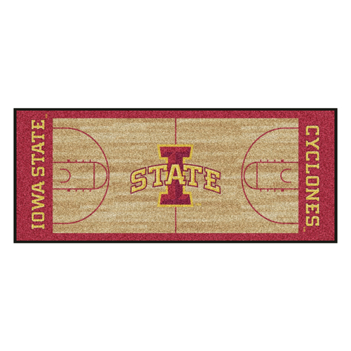 """30"""" x 72"""" Brown and Red NCAA Iowa State Cyclones Rectangular Area Throw Rug Runner - IMAGE 1"""