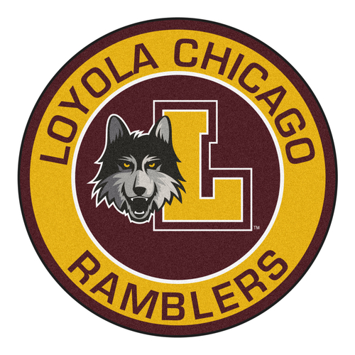 """Red and Yellow NCAA Loyola Ramblers Roundel Mat 27"""" - IMAGE 1"""