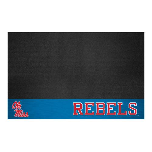 "26"" x 42"" Black NCAA Ole Miss Rebels Rectangular Grill Mat - IMAGE 1"