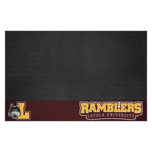 "26"" x 42"" Black NCAA Loyola Ramblers Rectangular Grill Mat - IMAGE 1"