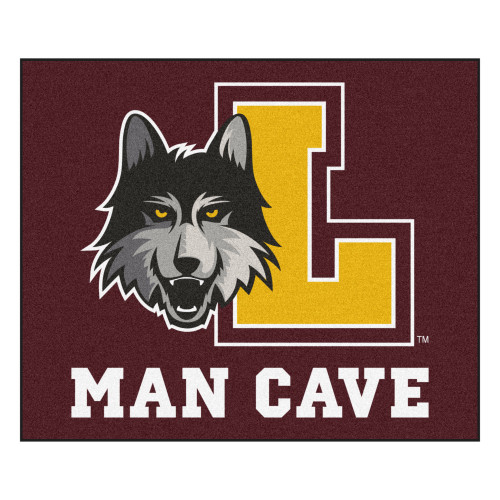 """Burgundy Red and Yellow Loyola Chicago """"MAN CAVE"""" Rectangular Ultimat Area Rug 5.9"""" x 4.9"""" - IMAGE 1"""