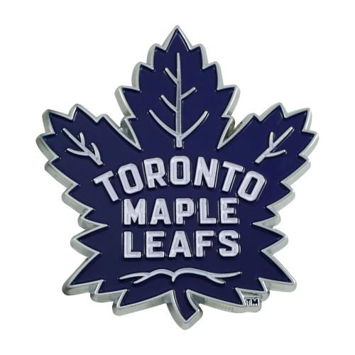 "3"" Blue and White NHL Toronto Maple Leafs 3D Emblem - IMAGE 1"