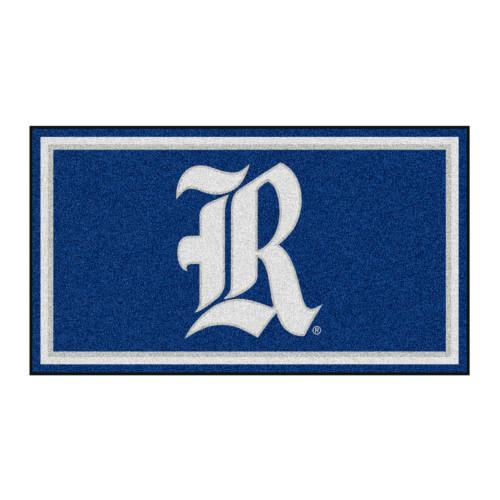 3' x 5' Blue and White NCAA Rice University Owls Rectangular Plush Area Throw Rug - IMAGE 1