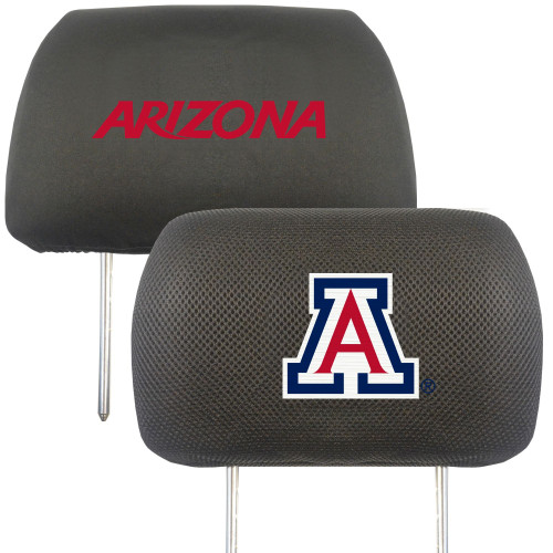 """13"""" Black and Red NCAA Arizona Wildcats Headrest Cover - IMAGE 1"""