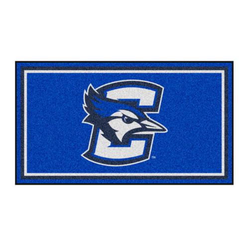3' x 5' Blue and White NCAA Creighton Bluejays Rectangular Plush Area Throw Rug - IMAGE 1