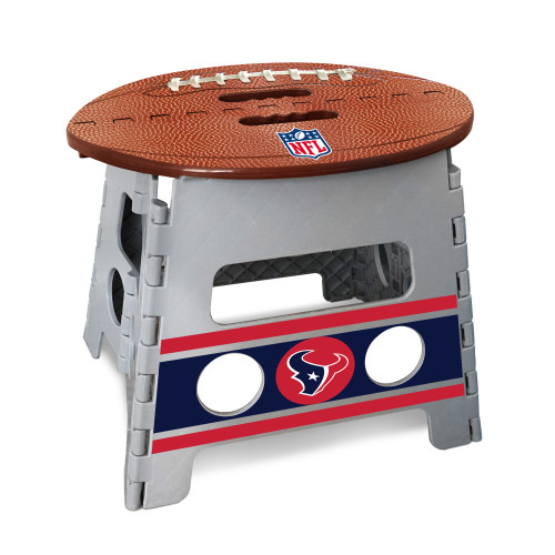 """14"""" Gray and Brown NFL Houston Texans Folding Step Stool - IMAGE 1"""