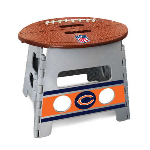 """14"""" Gray and Brown NFL Chicago Bears Folding Step Stool - IMAGE 1"""