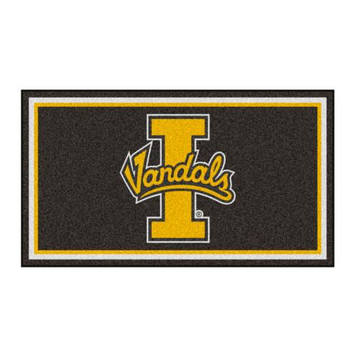 3' x 5' Gray and Yellow NCAA Idaho Vandals Rectangular Plush Area Throw Rug - IMAGE 1