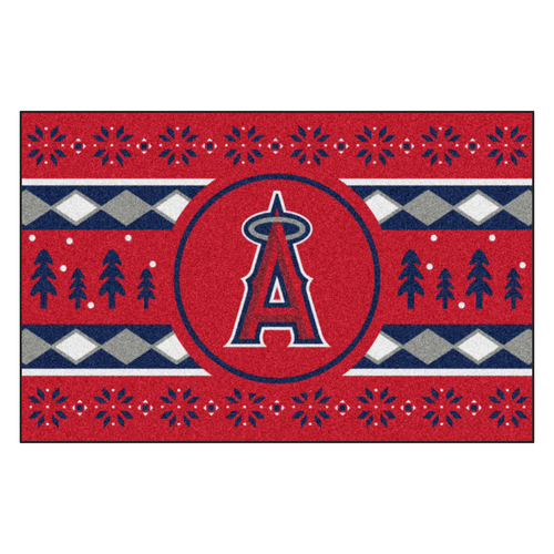 """Red and Blue MLB Los Angeles Angels Rectangular Sweater Starter Mat 30"""" x 19"""" - IMAGE 1"""