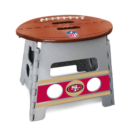 """14"""" Gray and Brown NFL San Francisco 49ers Folding Step Stool - IMAGE 1"""