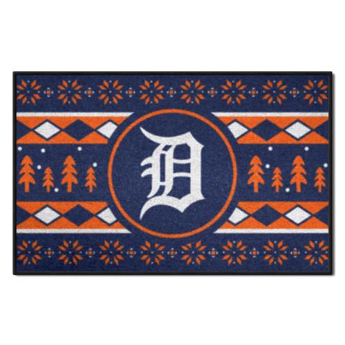 "Blue and Orange MLB Detroit Tigers Rectangular Sweater Starter Mat 30"" x 19"" - IMAGE 1"