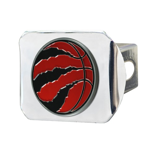 "4"" Stainless Steel and Red NBA Toronto Raptors Hitch Cover - IMAGE 1"