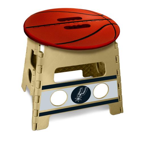 "14"" Red and Beige NBA San Antonio Spurs Folding Step Stool - IMAGE 1"
