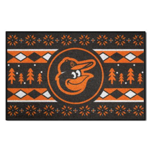 """Orange and Black MLB Baltimore Orioles Rectangular Sweater Starter Mat 30"""" x 19"""" - IMAGE 1"""