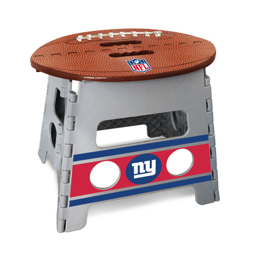 """14"""" Gray and Brown NFL New York Giants Folding Step Stool - IMAGE 1"""
