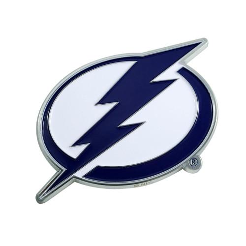 """3"""" Blue and White NHL Tampa Bay Lightning 3D Emblem - IMAGE 1"""