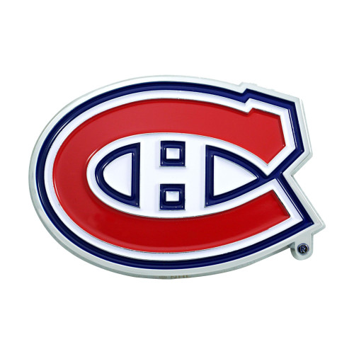 """3"""" Red and Blue NHL Montreal Canadiens 3D Emblem - IMAGE 1"""
