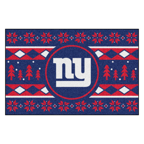 "Blue and Red NFL New York Giants Rectangular Sweater Starter Mat 30"" x 19"" - IMAGE 1"