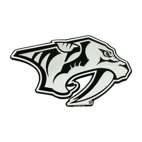 """3"""" Stainless Steel and Black NHL Nashville Predators 3D Emblem - IMAGE 1"""
