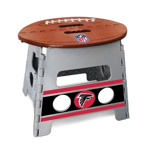 "14"" Gray and Brown NFL Atlanta Falcons Folding Step Stool - IMAGE 1"