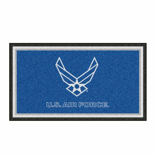 3' x 5' Blue and White U.S Air Force Rectangular Plush Area Throw Rug - IMAGE 1