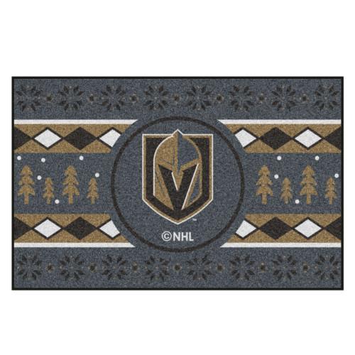 "Gray and Black NHL Vegas Golden Knights Rectangular Sweater Starter Mat 30"" x 19"" - IMAGE 1"
