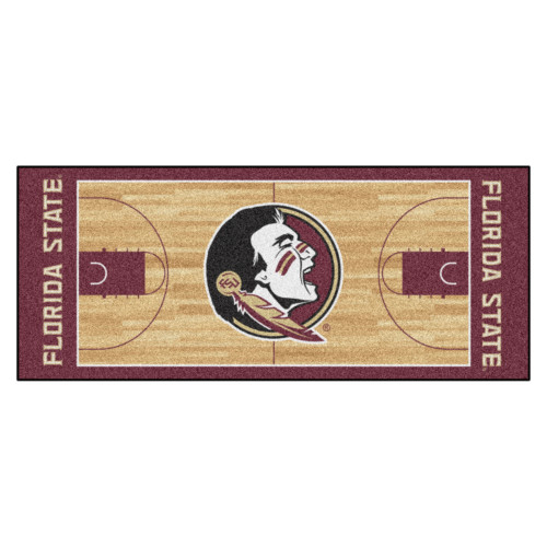 "30"" x 72"" Brown and Red NCAA Florida State Seminoles Rectangular Area Throw Rug Runner - IMAGE 1"