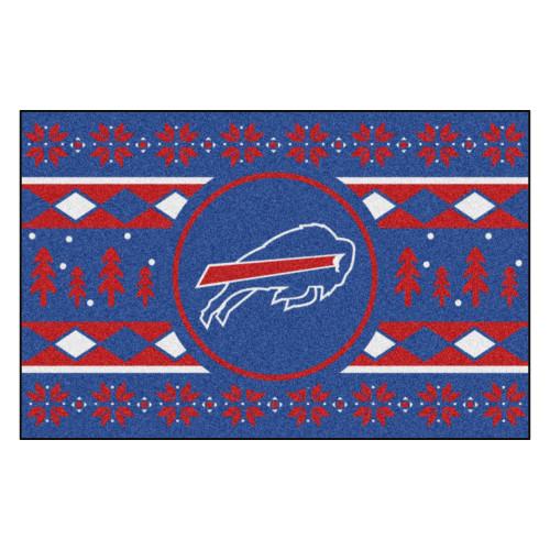"""Blue and Red NFL Buffalo Bills Rectangular Sweater Starter Mat 30"""" x 19"""" - IMAGE 1"""
