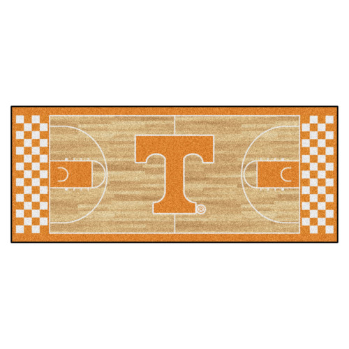 "30"" x 72"" Brown and Yellow NCAA Tennessee Volunteers Rectangular Area Throw Rug Runner - IMAGE 1"