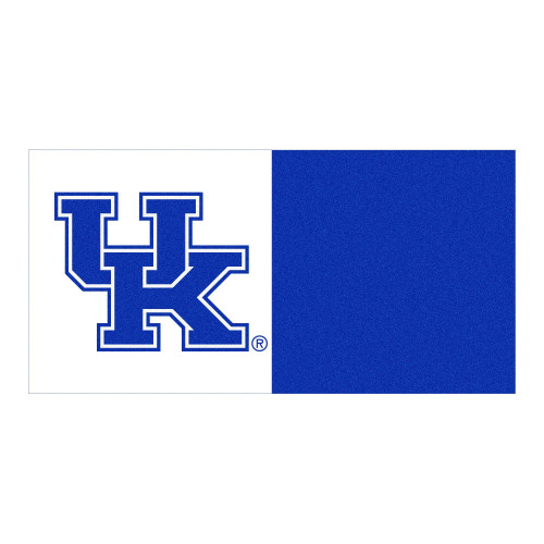 """18"""" Blue and White NCAA Kentucky Wildcats Square Carpet Tiles - IMAGE 1"""