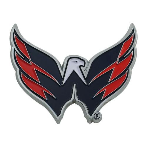 "3"" Blue and Red NHL Washington Capitals 3D Emblem - IMAGE 1"