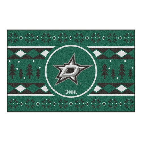 "Green and Black NHL Dallas Stars Rectangular Sweater Starter Mat 30"" x 19"" - IMAGE 1"
