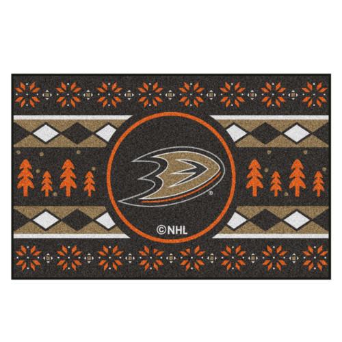 "Black and Orange NHL Anaheim Ducks Rectangular Sweater Starter Mat 30"" x 19"" - IMAGE 1"