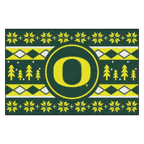 "Green and Yellow NCAA Oregon Ducks Rectangular Sweater Starter Mat 30"" x 19"" - IMAGE 1"