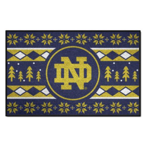 """Navy Blue and Yellow NCAA Notre Dame Fighting Irish Rectangular Sweater Starter Mat 30"""" x 19"""" - IMAGE 1"""