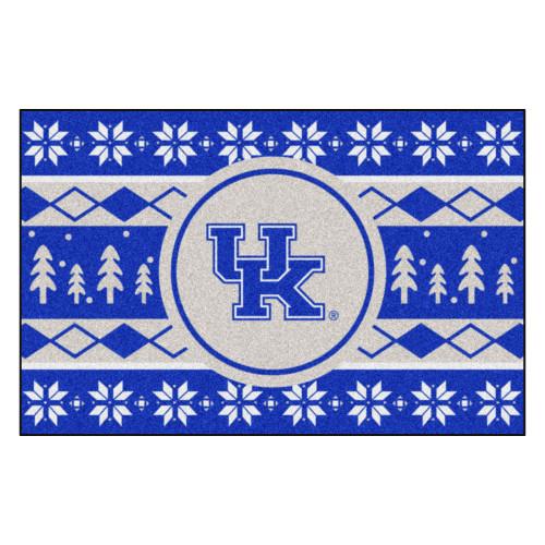 """Blue and White NCAA Kentucky Wildcats Rectangular Sweater Starter Mat 30"""" x 19"""" - IMAGE 1"""