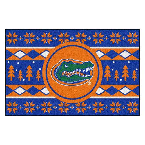 "Blue and Orange NCAA Florida Gators Rectangular Sweater Starter Mat 30"" x 19"" - IMAGE 1"