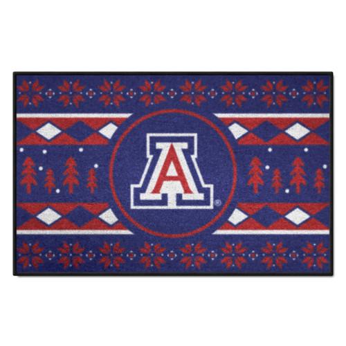 "Red and Blue NCAA Arizona Wildcats Rectangular Sweater Starter Mat 30"" x 19"" - IMAGE 1"