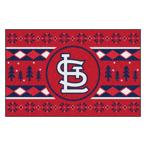 "Red and Blue MLB Saint Louis Cardinals Rectangular Sweater Starter Mat 30"" x 19"" - IMAGE 1"
