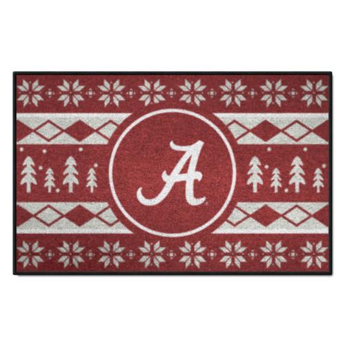 "Red and White NCAA Alabama Crimson Tide Rectangular Sweater Starter Mat 30"" x 19"" - IMAGE 1"